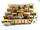 Wood Mounted Rubber Stamps Mixed Lot of 30 Holiday Craft Christmas New  Used