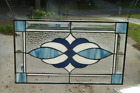 Earthy Blues Stained glass and beveled window panel