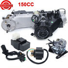 150cc Air Cooled GY6 Single Cylinder 4 Stroke Complete Engine Set Carburetor CDI