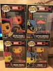 Funko Pop! Marvel Black Light Set of 4 - Target Exclusive