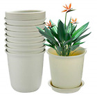 EHWINE 72 Inch Plastic Flower Pots 8 Pack Indoor Plant Pots with Drainage and