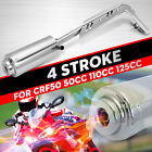 4 Stroke Motorcycle Muffler Exhaust Pipe For CRF50 Dirt Bike 50CC 110CC 125CC US