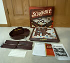 Scrabble Deluxe Edition Turntable Rotating Board Game Red Tiles Excellent Unused
