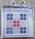 Simple Quilts Divided Squares Kit 44x44 Top + Backing  Binding New