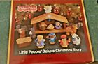Fisher Price 2002 Little People Deluxe Christmas Story Nativity Set Music Light