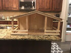 Large Christmas Vintage Wood Nativity Manger Stable Only 1 ft by 1ft by 2 ft