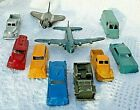 Vintage 1950s Goodee Die cast Airplanes Trucks and Cars Toy LOT of 10