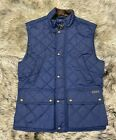Polo Ralph Lauren Mens Diamond Quilted Vest Navy Blue Size Small