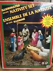 VTG Empire 11 piece Blow Mold Deluxe Nativity Set Plastic Illuminated Christmas