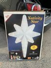 VINTAGE EMPIRE GIANT CHRISTMAS BLOW MOLD NATIVITY STAR LIGHT UP DISPLAY 39w BOX