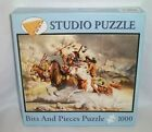 New BITS  PIECES 1000 Piece CHEYENNE PUZZLE Native American Indian Horses