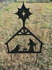 Christmas Nativity Sign Decoration Metal Yard Sign CNC Metal Art Holiday 21x 29