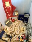 Huge Vintage Antique Estate Costume Jewelry Lot New  Used  Signed Gold Tones