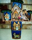NATIVITY CROSS SET DICKSONS RESIN NATIVITY CROSS WITH 5 FIGURES 12 INCHES TALL
