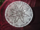 VTG SYDENSTRICKER FUSED GLASS CAPE COD HUGE 14 1 4 CHRISTMAS SNOWFLAKE PLATTE
