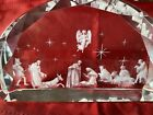 Etched Glass Nativity Scene