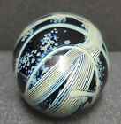 RARE and STRIKING Rick Satava 89 Harvest Moon  Wisteria Glass Paperweight