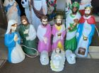 Vintage Empire Blow Mold Small Nativity Christmas Complete Set