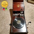 Vintage Early 1900s Columbia Grafonola Crank Phonograph Plays SEE DESCRIPTION