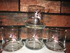 Vintage Mallard Duck Juice Low Ball Glasses Wide Bottom Whiskey Cocktail Lot 4