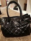 chanel tote vintage no flaws hard to get amazing contionfit all and have pouch