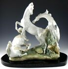 Lladro LARGE FIGURINE SCULPTURE HORSE'S GROUP PLAYING w/ BASE 1021 Retired Mint