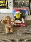 Ty Beanie Baby - GINGY the Gingerbread Man (Shrek the Halls DVD Exclusive) MWMT