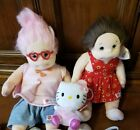 Lot 3 Vintage Ty Beanie Kids Luvie Cookie Hello Kitty + shoes clothing undpants