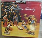 Costco Kirkland Large Porcelain Nativity Set 399707 10PC Set BEAUTIFUL