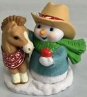 2020 Series SNOW BUDDIES Snowman Feeding Pony 23rd Keepsake Ornament by Hallmark