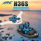 Upgraded H36F JJRC H36S 24G 4 In 1 RC Vehicle Flying Drone Land Driving Boat