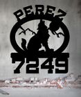 Wolf Custom Personalized Metal Address Sign Hand Made USA Steel LARGE SIGN