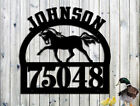 Horse Personalized Address Family Name Custom Metal Sign Hand Made USA LARGE