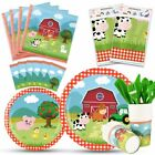 Farm Party Tableware Set Barnyard Animal Themed Party Supplies for Kids Birth