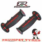 Progrip Handlebar Grips 601 Dual Compound Scooter Moped Grips Black Red Set
