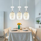 Luxury Crystal Wine Glass Shade Pendant Lamp 3 Light Hanging Light 35w