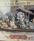 Nice 2000 Collectors Edition GRANDEUR NOEL 9 PIECE NATIVITY SET w BOX