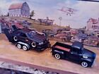 124 Scale Diecast3 piece SetFltBlk56 Ford Pickup1989 Ford Mustang trailer