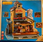 MINT LEMAX Holiday House Village EXCLUSIVE MENARDS SAW MILL Animated Sight Sound