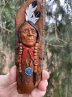 Wood Spirit Carving Indian Native American Western Art by JD Rogers