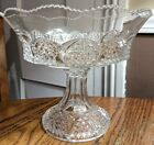 Antique Cut Glass Compote Footed Bowl Extra Nice
