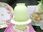 FENTON glass large fairy lamp satin lace design embossed pale yellow