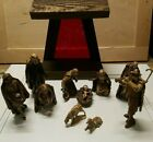 VINTAGE CHRISTMAS NATIVITY SET 11 PIECE