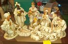 VINTAGE PAPER MACHE NATIVITY SET 12 12 PIECE MADE IN JAPAN IOB