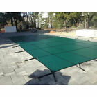 16X32 FT Inground Swimming Pool Cover Winter Safety Cover Rectangle Center Step