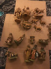 Lot of Italy Nativity Figures Some Fontanini Despose 17 figures total