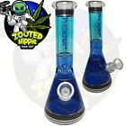 10 BLUE Hookah Water Pipe Heavy Glass Tobacco Beaker Base Bong Ice Catcher