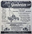 1956 ADXA19 SUNBEAM CORP CHICAGO SUNBEAM TWIN BLADE ELECTRIC ROTARY MOWER