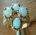VINTAGE 10K YELLOW GOLD OPAL RING MARKED HARMONY SIZE 6 1 2