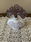 Fenton New Century Collection Floral Glass Perfume Bottle Signed Bill Fenton